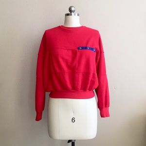 '80s / Cropped Cherry Pullover